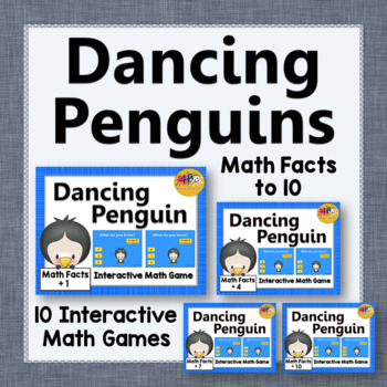 Math Facts Fluency to 10 Interactive Addition Games {Danci