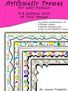 Math Facts Frames - 0-9 Addition