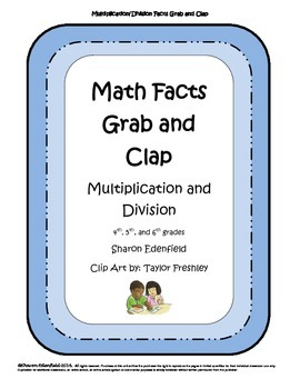 Math Facts Grab and Clap Game
