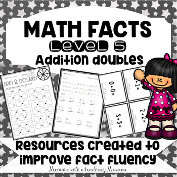 Math Facts Level 5 Fact Fluency Addition Doubles facts