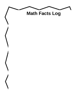 Math Facts Log