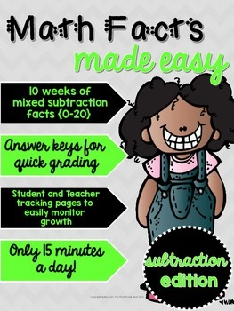 Math Facts Made Easy: Subtraction Edition