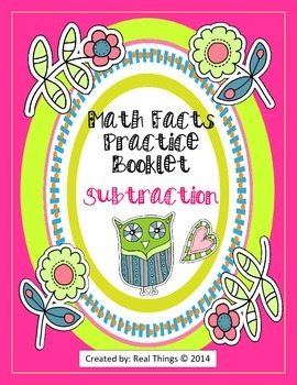Math Facts Practice Booklet-Subtraction
