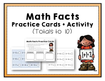 Math Facts Practice Cards and Activity