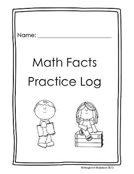 Math Facts Practice Log