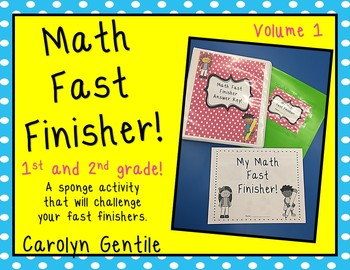 Math Fast Finisher!  Volume 1 Pages 1-20