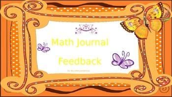 Math Feedback for Journals