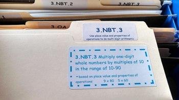 Math File Labels: 3rd Grade Common Core Standards