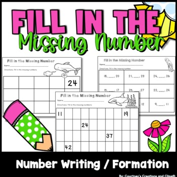 Math- Fill in the Missing Numbers Kindergarten 87 pages