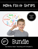 Math Fix-it Strips for 3rd Grade Math Bundle