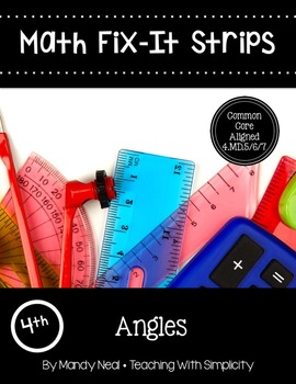 Math Fix-it Strips for Angles (4th)