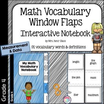 Math Vocabulary Interactive Notebook Foldable Measurement
