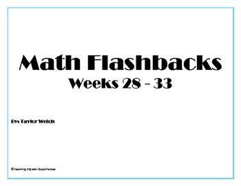 Math Flashback Bundle Weeks 28 - 33