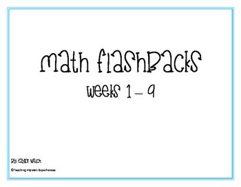 Math Flashbacks Weeks 1 - 9