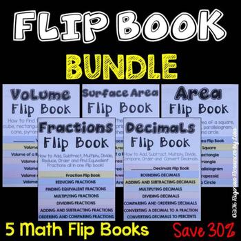 Math Flipbook Bundle - Math Resources for Teachers, Studen