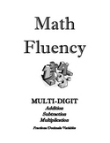Math Fluency I-V  Multiply, Divide, Add, Subtract, Decimal