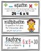 Math Focus Wall Vocabulary Cards