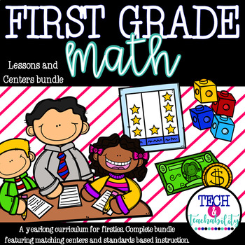 Math! For First Grade! Units 1-12 COMPLETE Bundle! {Lesson