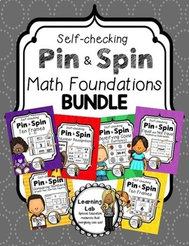 Math Foundations BUNDLE - A Pin & Spin Activity
