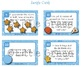 Math Fraction Task Cards - Halves, Quarters, Eighths - Chr