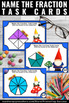 Fractions Task Cards with Visual Models 3rd Grade Common C