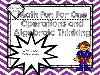 Math Fun for One!  Operations and Algebraic Thinking ( Fir