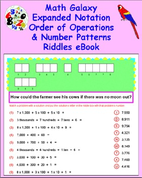 Math Galaxy Expanded Notation, Order of Operations & Patte