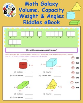 Math Galaxy Volume, Capacity, Weight & Angles Riddles eBook