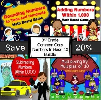 3rd Grade Math Activities: 3rd Grade Math Games Bundle for