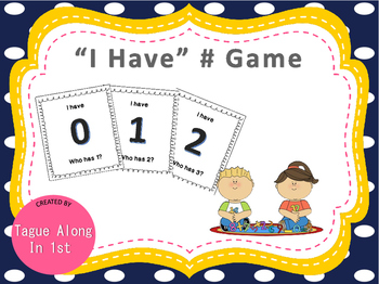 """Math Game """"I Have #"""""""