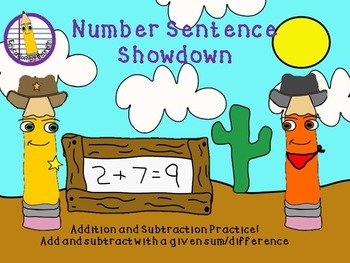 Math Game - Number Sentence Showdown
