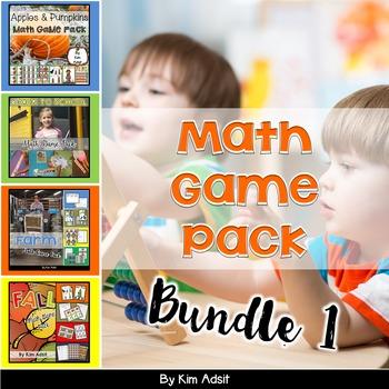 Math Game Pack Bundle #1 by Kim Adsit