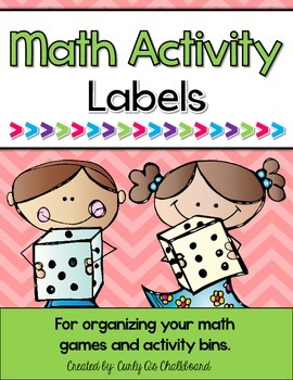 Math Game and Activity Bin Labels