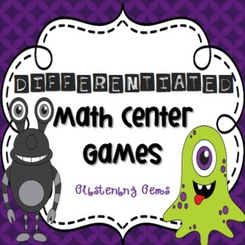 Addition and Multiplication Games - Monster Theme