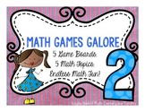 Math Games Galore Gr. 2  five board games, five  2nd grade