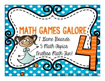 Math Games Galore Gr. 4 5 Board games, 5 4th grade math concepts!