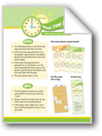 Math Games (Grades 2-3): What Time Is It? (Time to the Hal