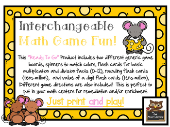 Math Games: Multiplication, Division, Rounding & Place Val
