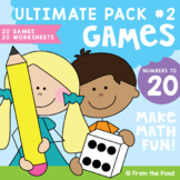 Math Centers /  Games - Numbers to 20 Ultimate Pack 2 - Pr