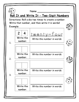 Math Games Two-Digit Numbers Standard Form and Word Form -