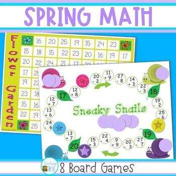 Math Games for Spring - Grade 2