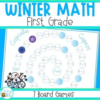 Math Games for Winter - Grade 1