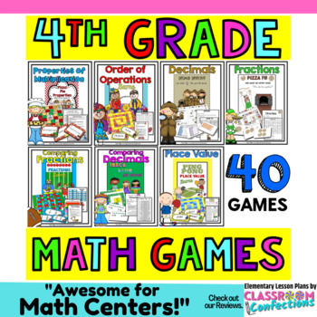 4th Grade Math Games: 4th Grade Math Centers Activities: M