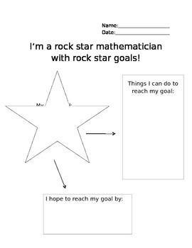 Math Goals Sheet