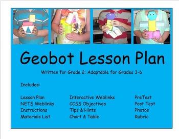 Math Gr 2-6 Geometry Lesson Plan 2D 3D Figures NETS Geobot
