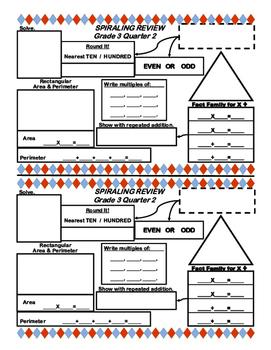 Math Grade 3 Spiraling Review Quarter 2