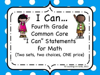 "Math Grade 4: CCSS ""I Can"" posters"