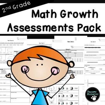 Common Core Math Assessments Bundle (Second Grade)
