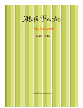 Math Halloween Addition- Sums to 12