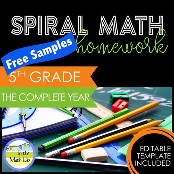 Math Homework 5th Grade - FREE Samples